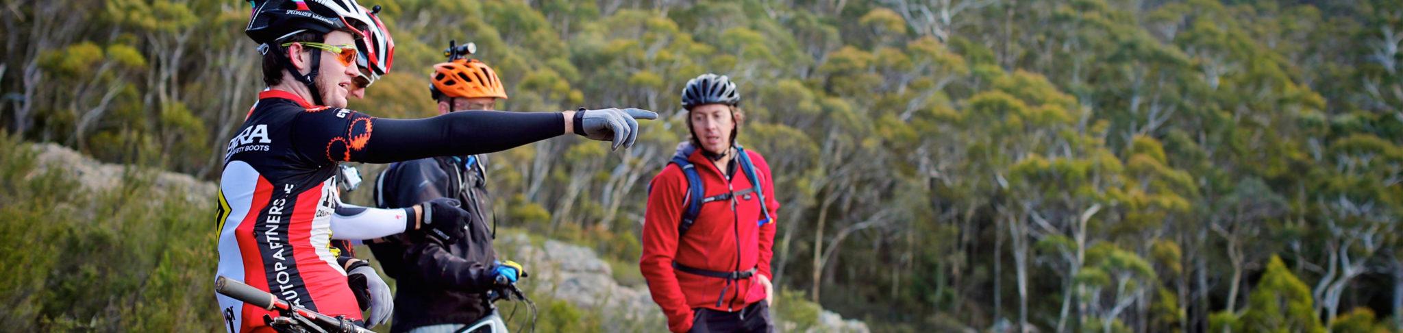 Image of bike riders at Mount Canobolas