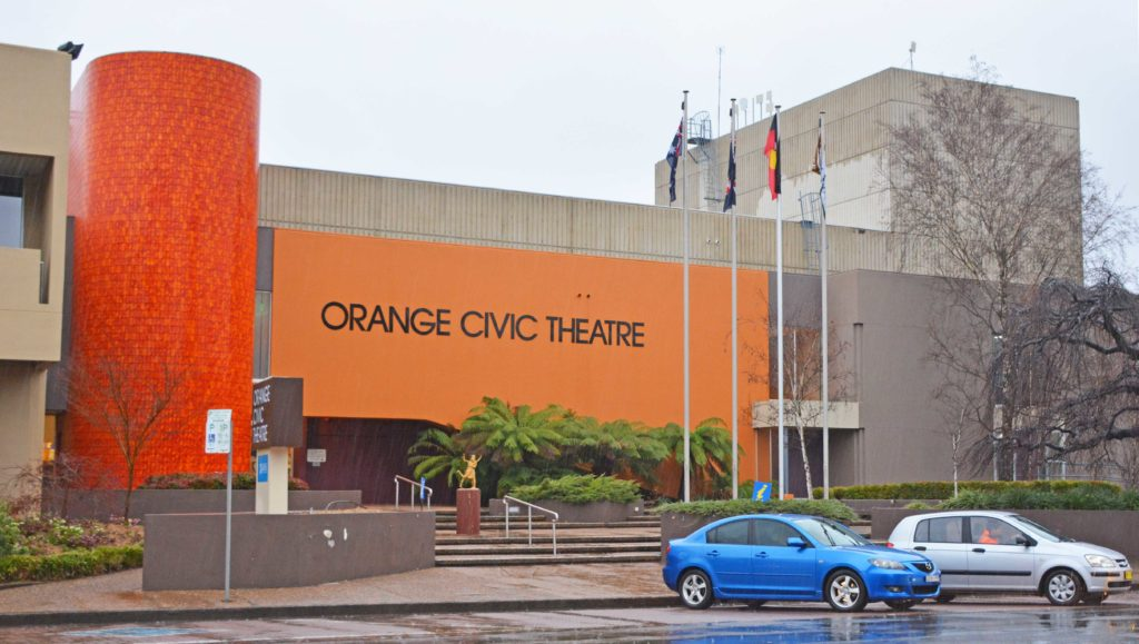 Outside view of Orange Civic Theatre