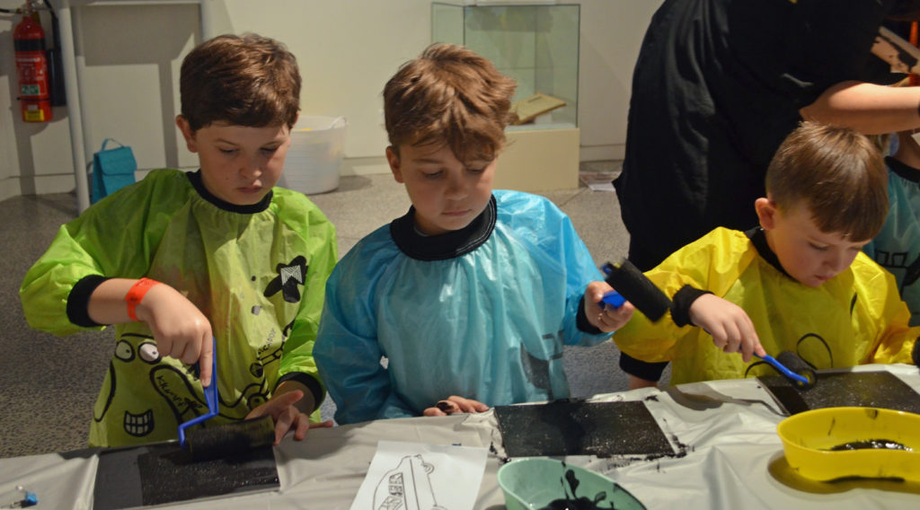 HOLIDAYS: Kids enjoying the school holiday workshops