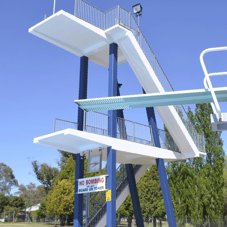 Diving tower at the Orange Aquatic Centre