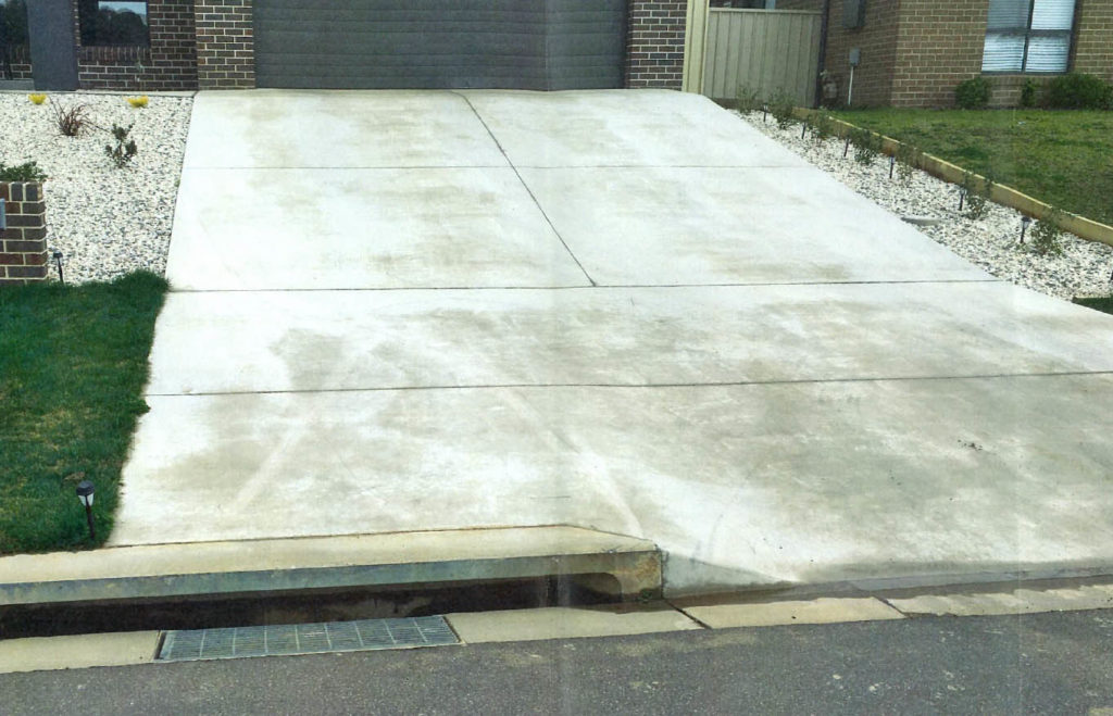 DRIVEWAY : More work at the planning stage cold have avoided a situation where a driveway has been built over a stormwater drain inlet.