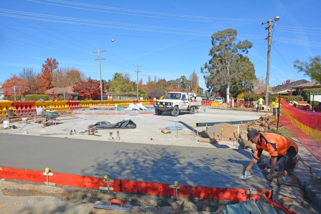 Woodward Moulder roundabout construction