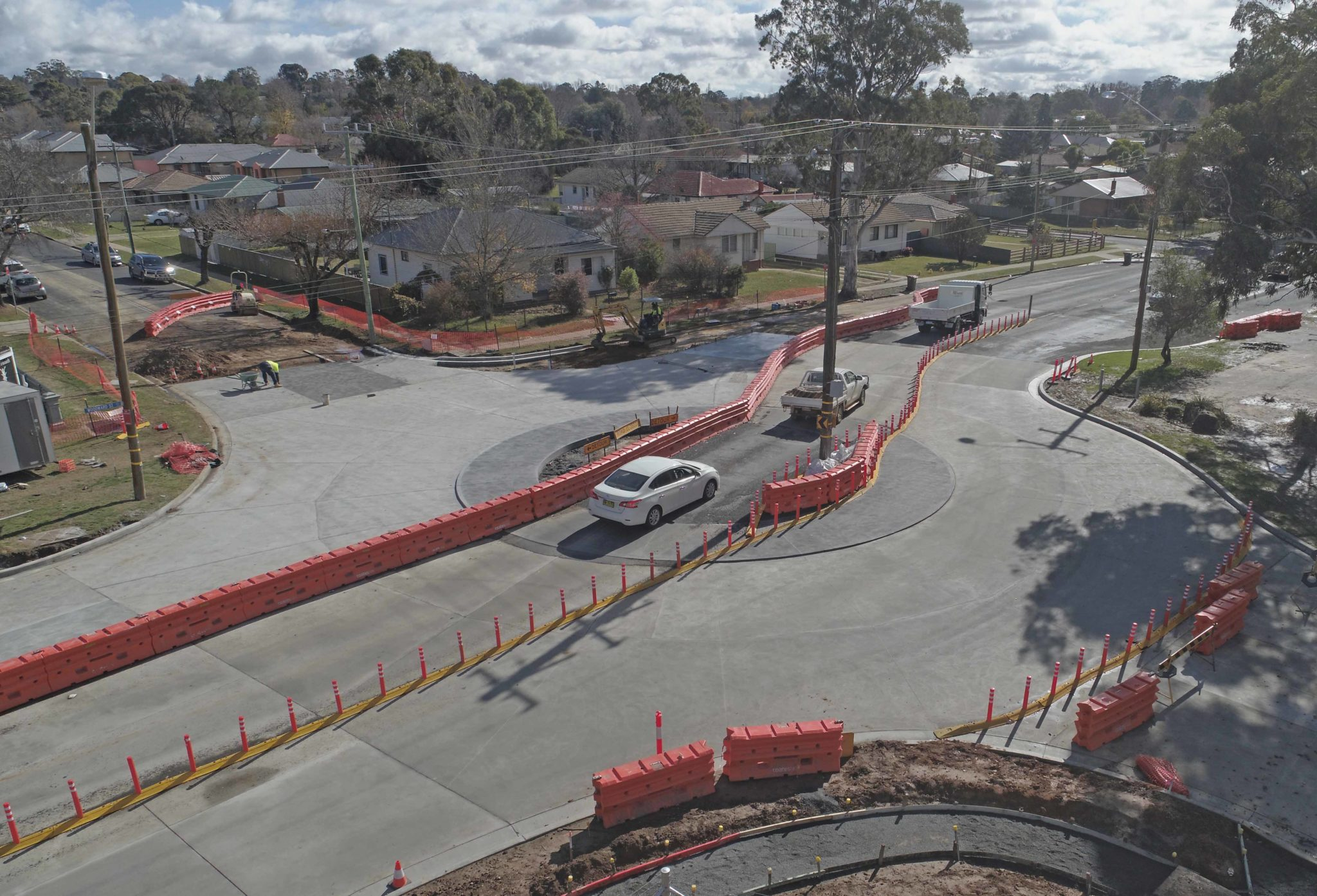 New roundabout in Orange almost complete.