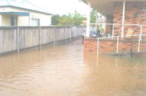 Autumn Street backyard flooded