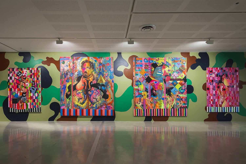 David Griggs' art installed