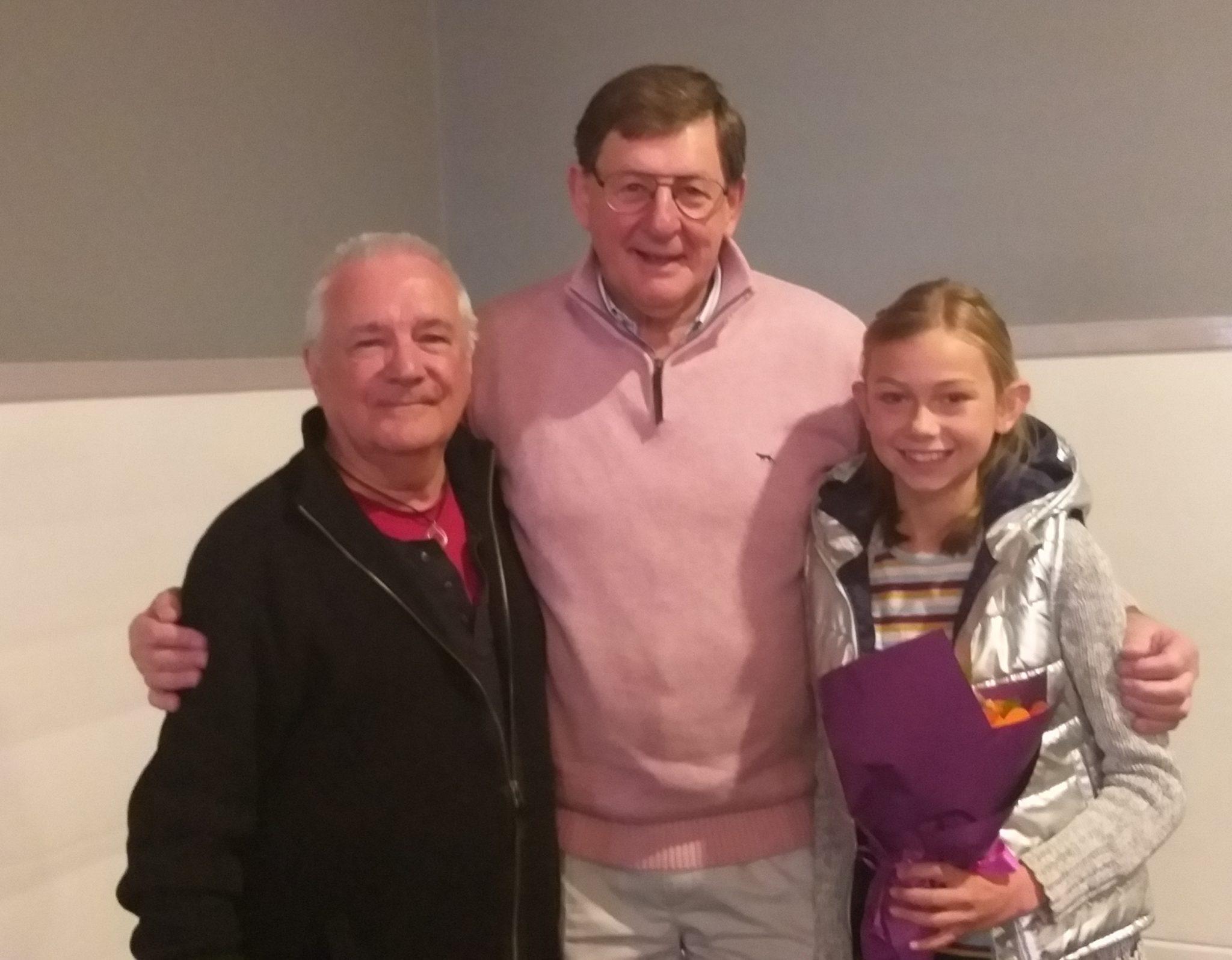 Poetry winner David Taylor, Mayor Reg Kidd and Childrens third place winner Matilda Stafford