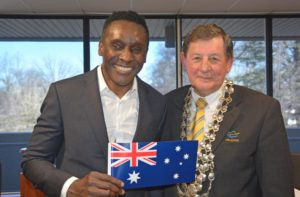 New citizen with Australian flag