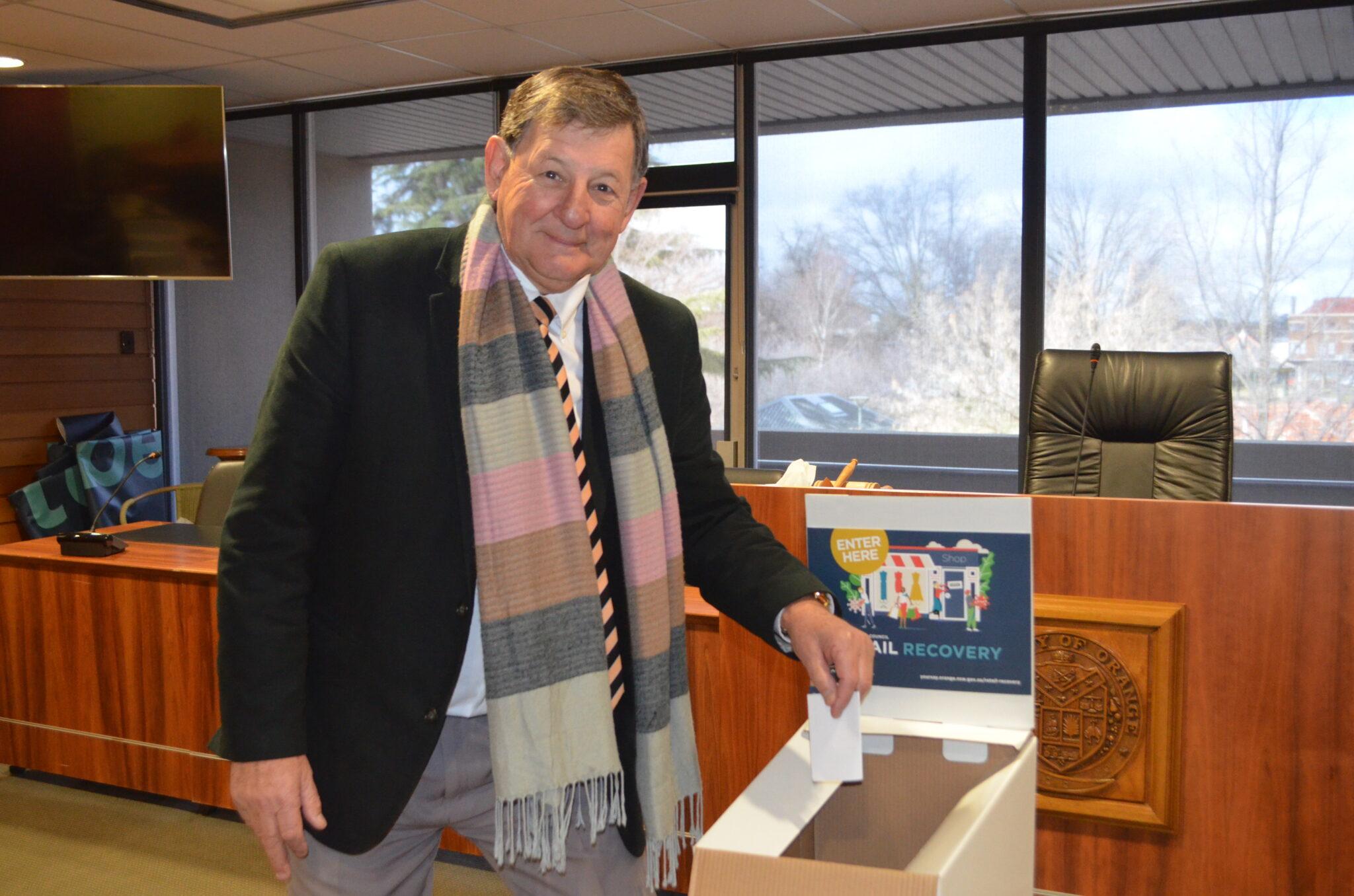 Mayor and ballot box