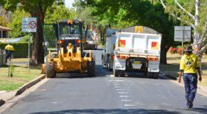 Road equipment at rest