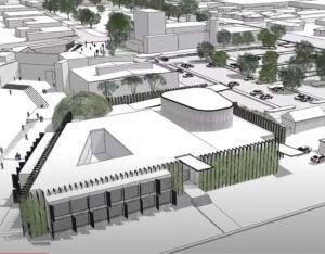 A concept image of the proposed Conservatorium and Planetarium