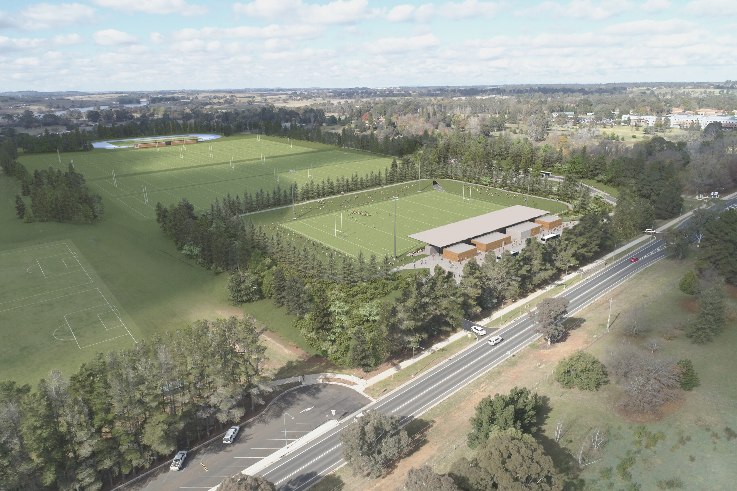 Artist impression of the proposed sporting precinct