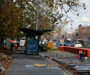 Concrete was poured at the Lords Place rank on Wednesday